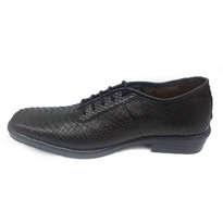 Sepatu Pria Kulit Asli Ular Phyton Warna Hitam Model Pantofel Size 42