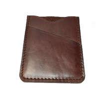 Dompet Kartu Kulit Asli Simpel Warna Coklat - Slim Wallet