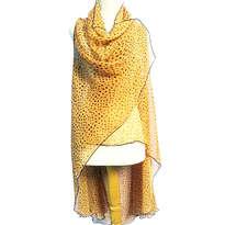 Tunik Chiffon Polka Dot Kuning