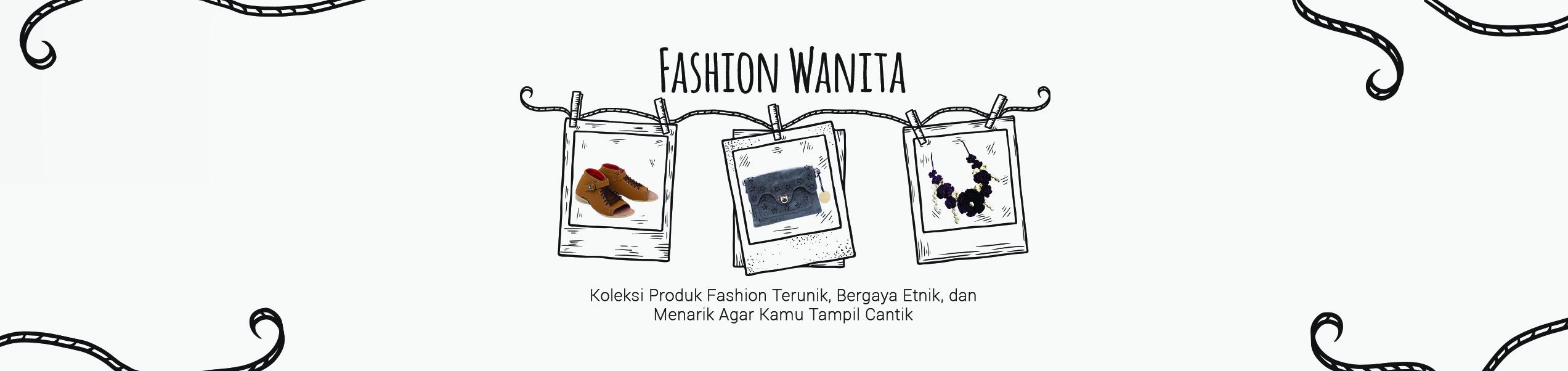 Banner fashion wanita