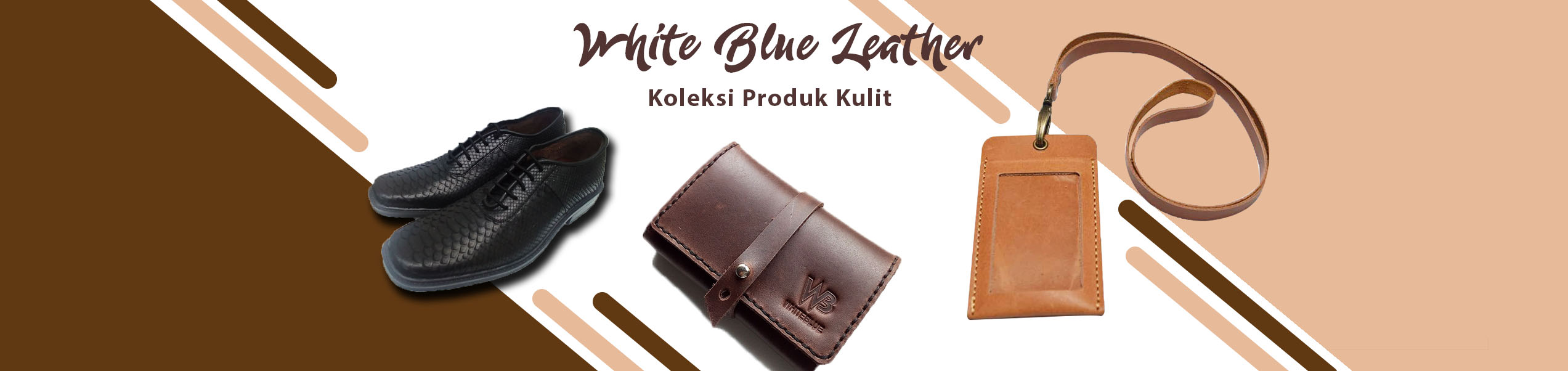 Whiteblue leather slide banner copy